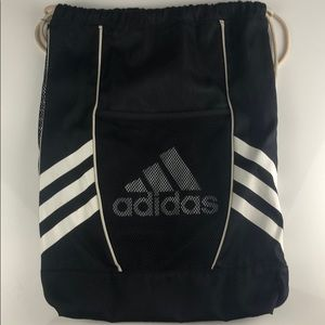 Adidas Sackpack Backpack black and white